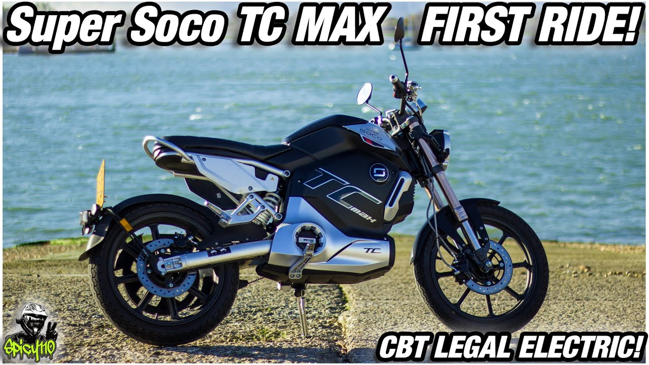 Super Soco TC Max – Spicy110 – First Ride! CBT Legal Electric Motorcycle!