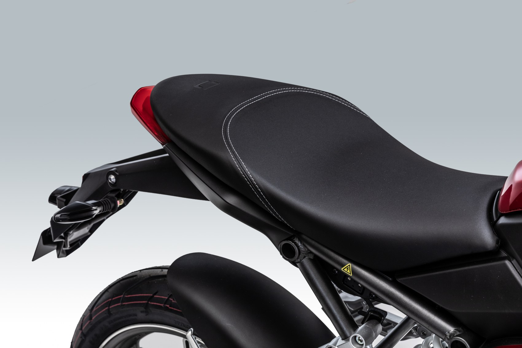 Super Soco TSx electric motorcycle rear seat unit