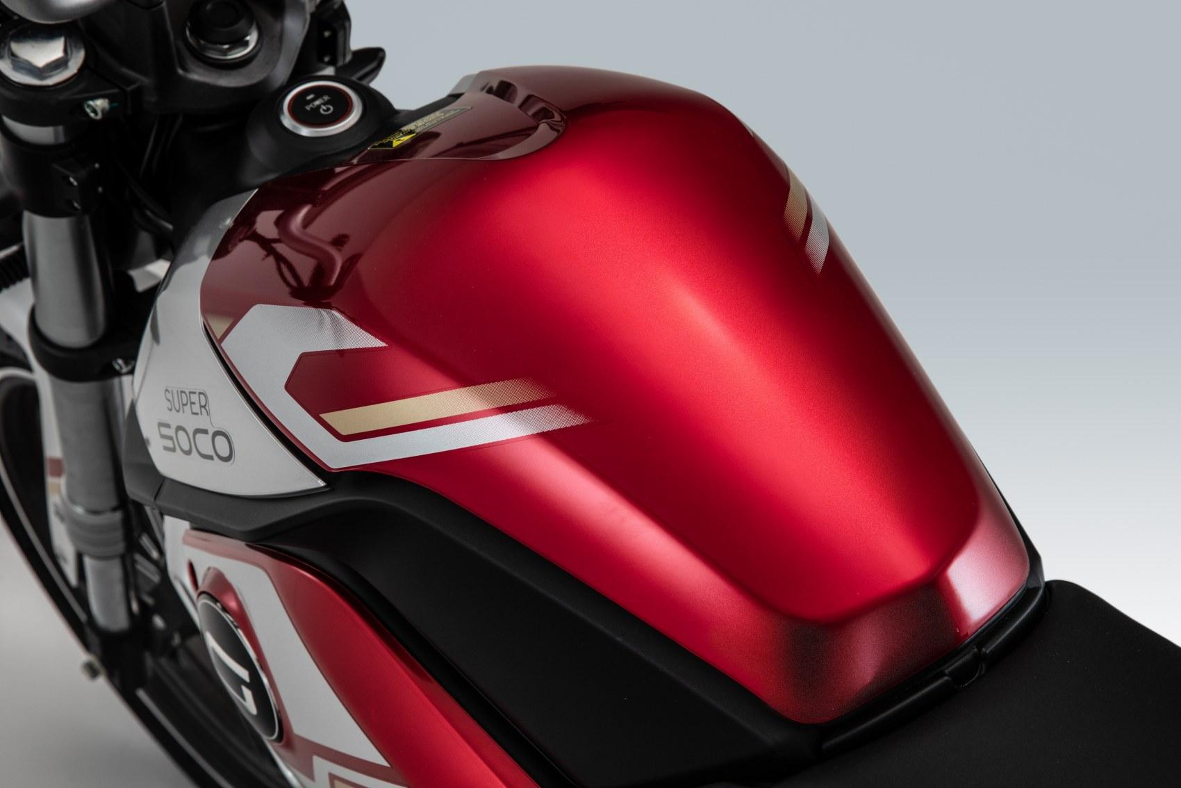 Super Soco TSx electric motorcycle tank unit
