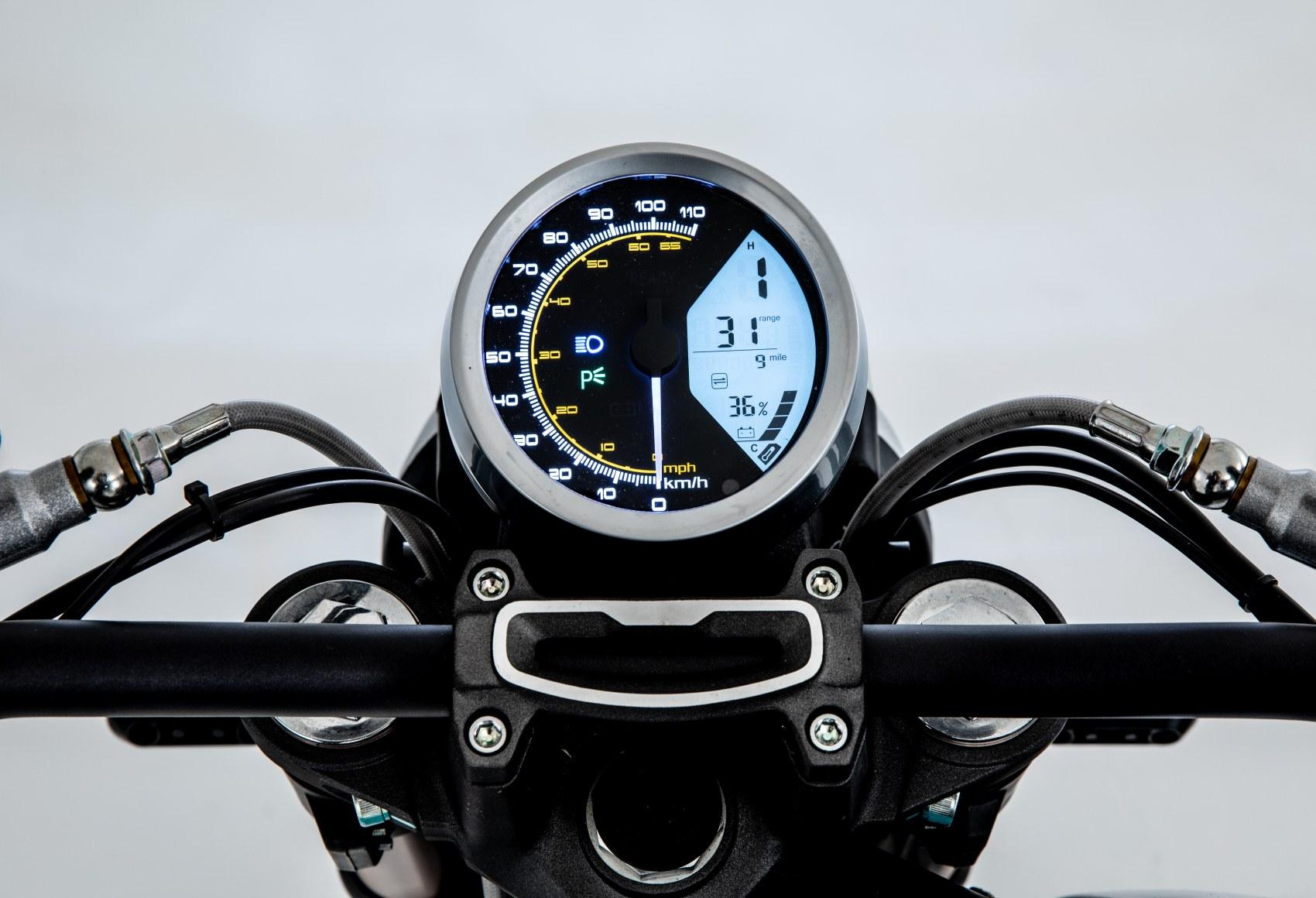 Super Soco TC Max electric motorcycle dash
