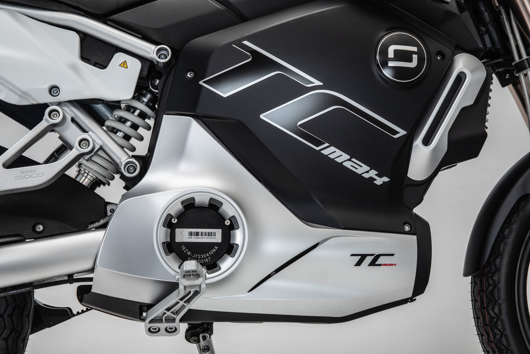 Super Soco TC Max electric motorcycle side panel