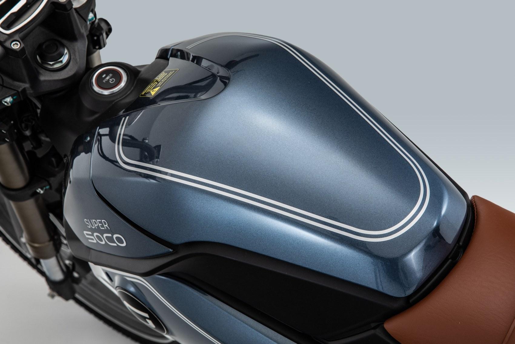 Super Soco TC electric motorcycle tank
