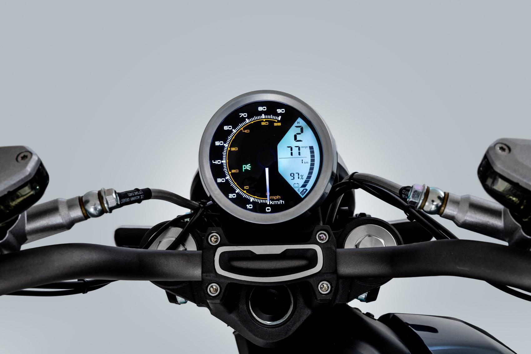 Super Soco TC electric motorcycle digital dash display unit