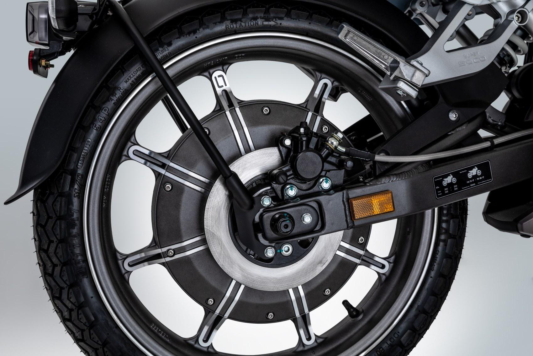 Super Soco TC electric motorcycle rear hub motor