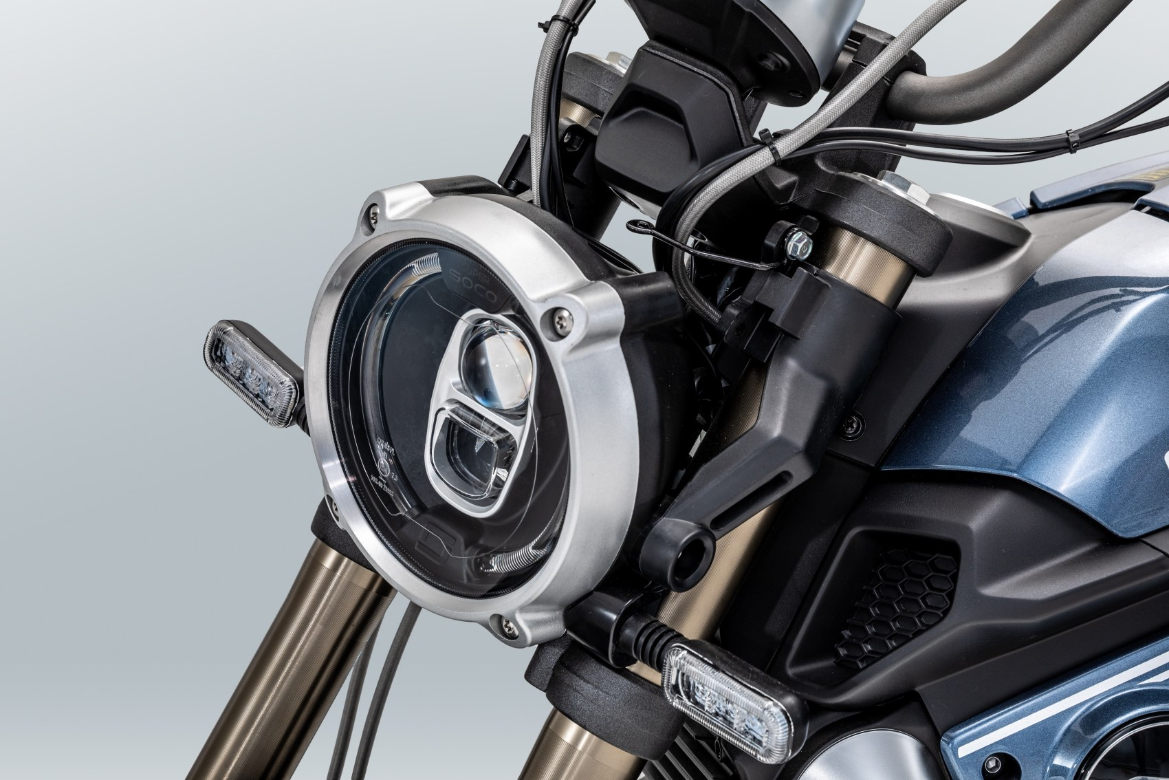Super Soco TC electric motorcycle front headlight unit