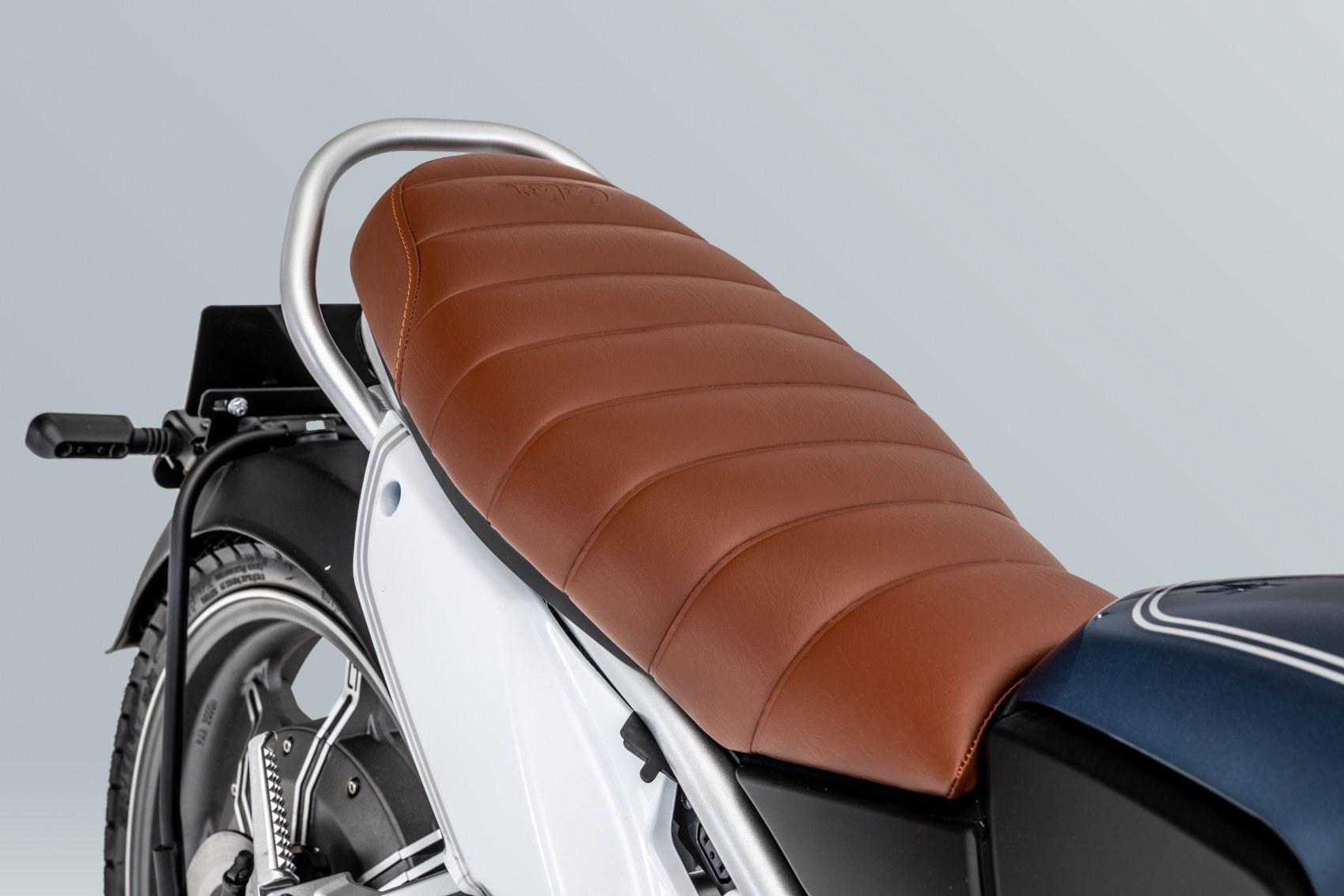 Super Soco TC electric motorcycle rear seat unit