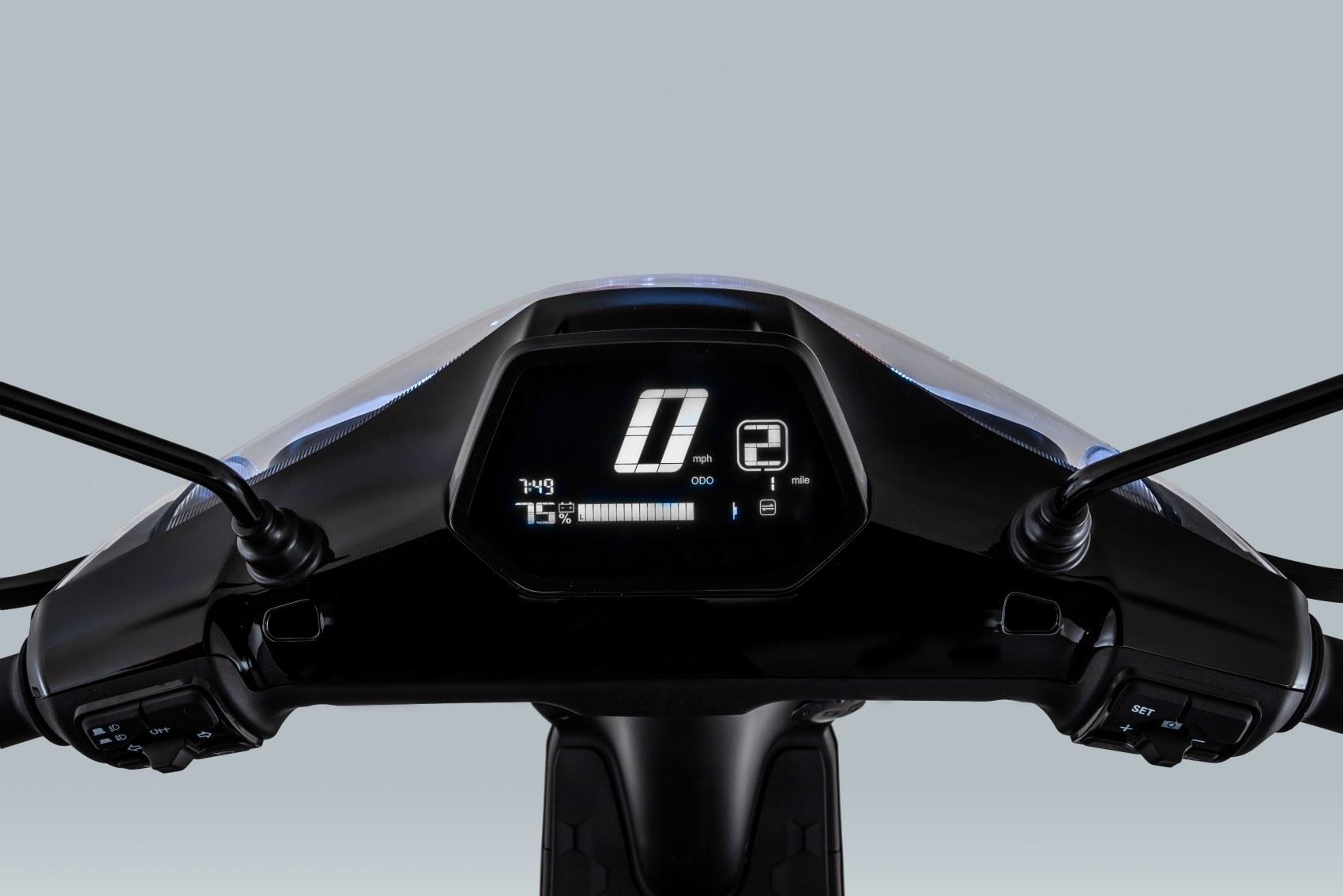 Super Soco CUx electric scooter digital display