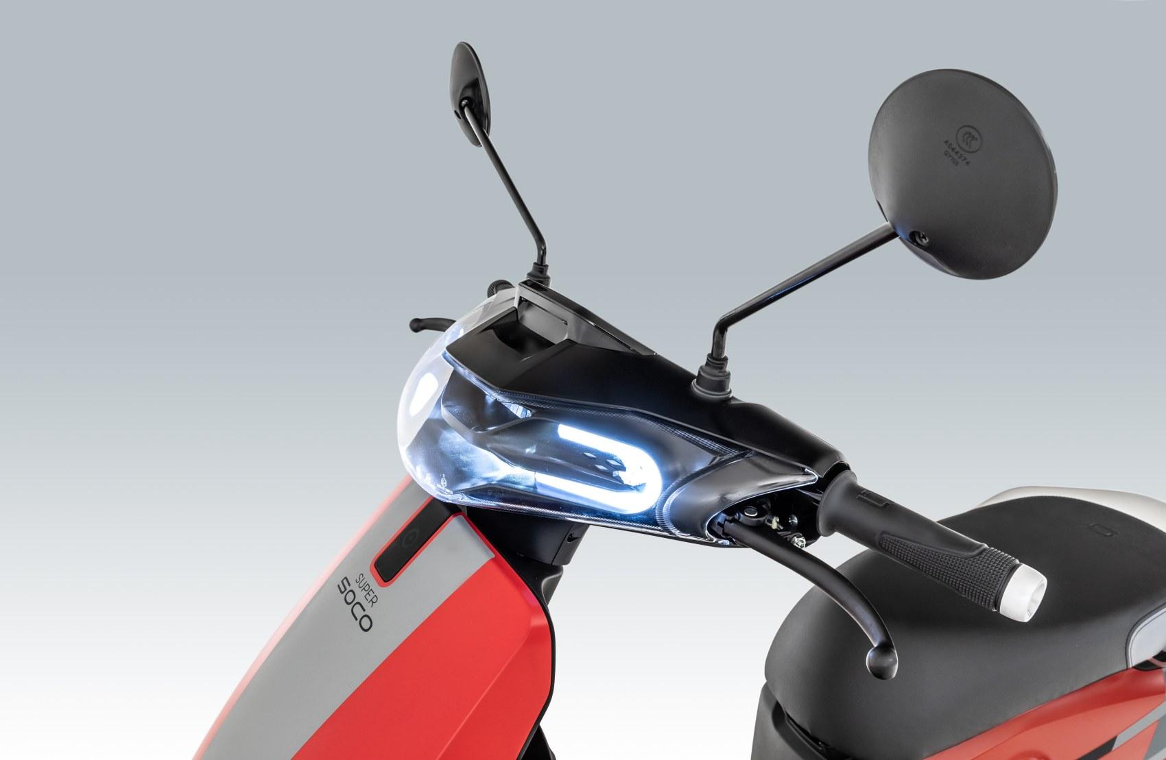Super Soco CUx electric scooter headlight Ducati Edition