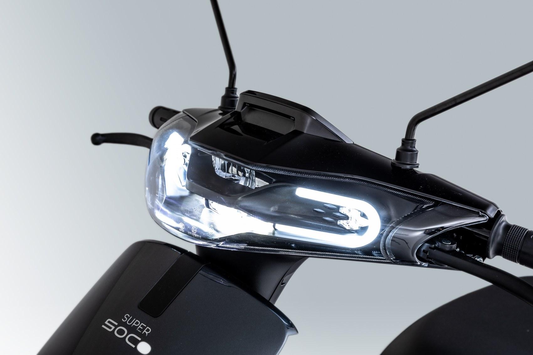 Super Soco CUx electric scooter headlight