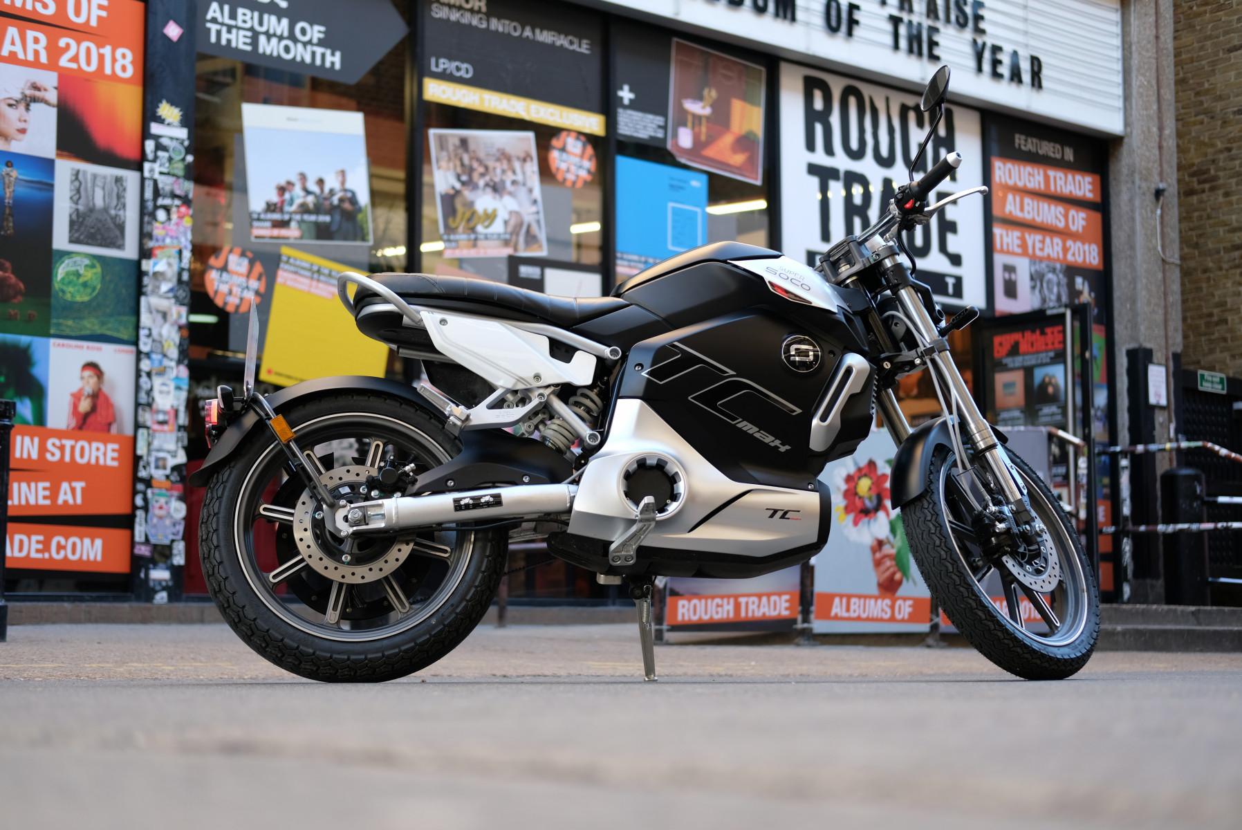 Super Soco TC Max electric motorcycle London