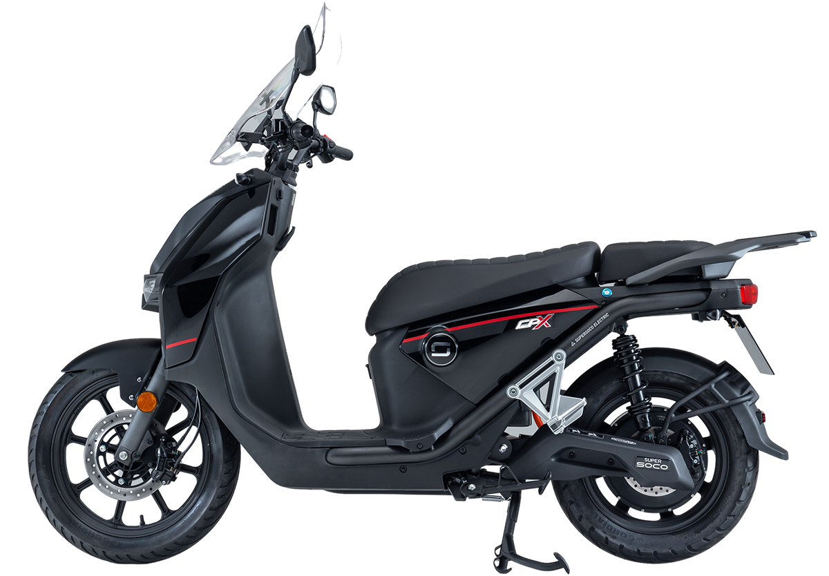 Super Soco CPx electric scooter - side