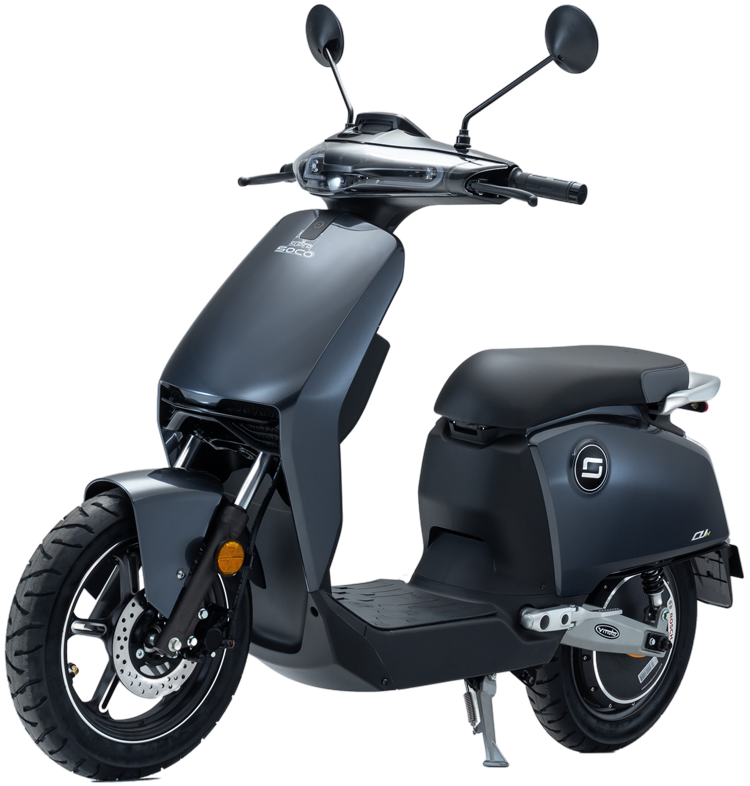 Super Soco CUx electric scooter front three quarter
