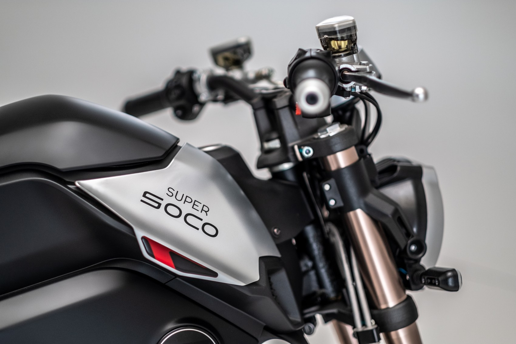 Super Soco TC Max electric motorcycle front