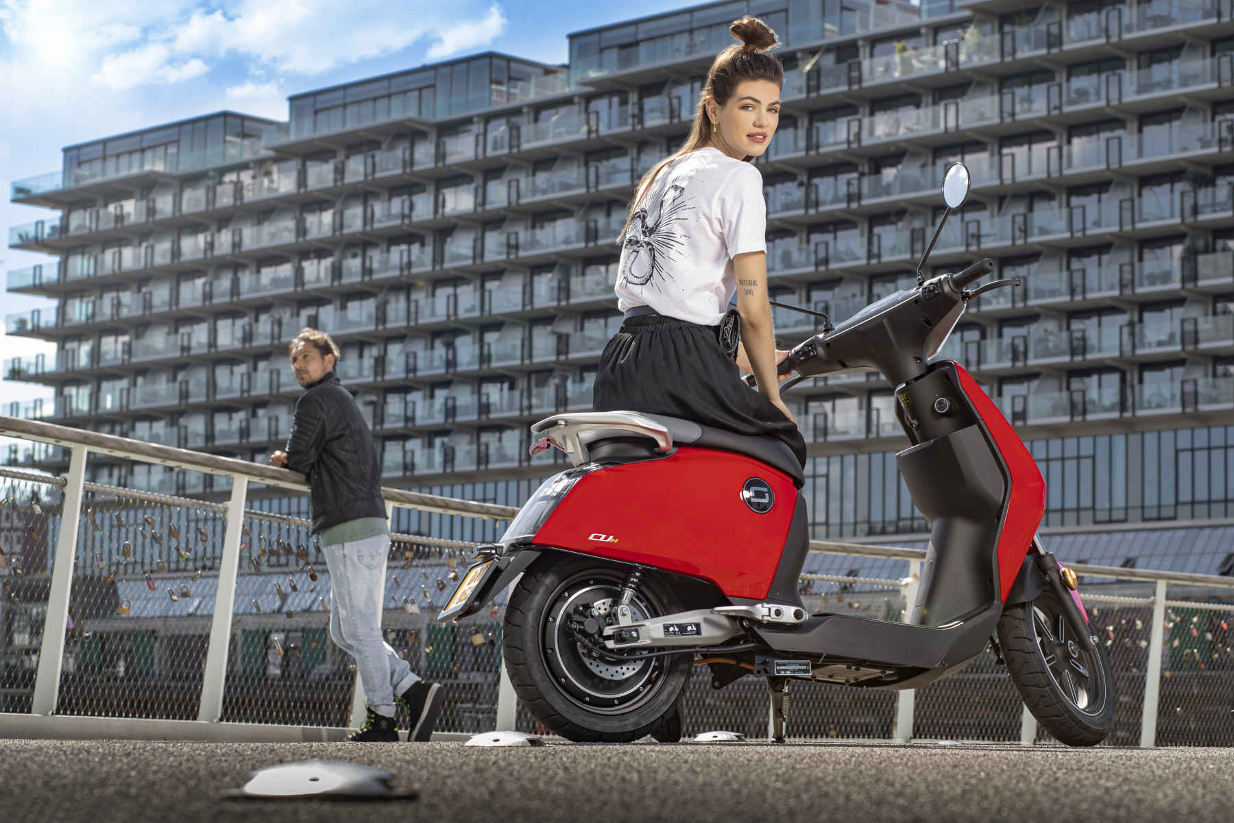 Super Soco CUx electric scooter lifestyle image