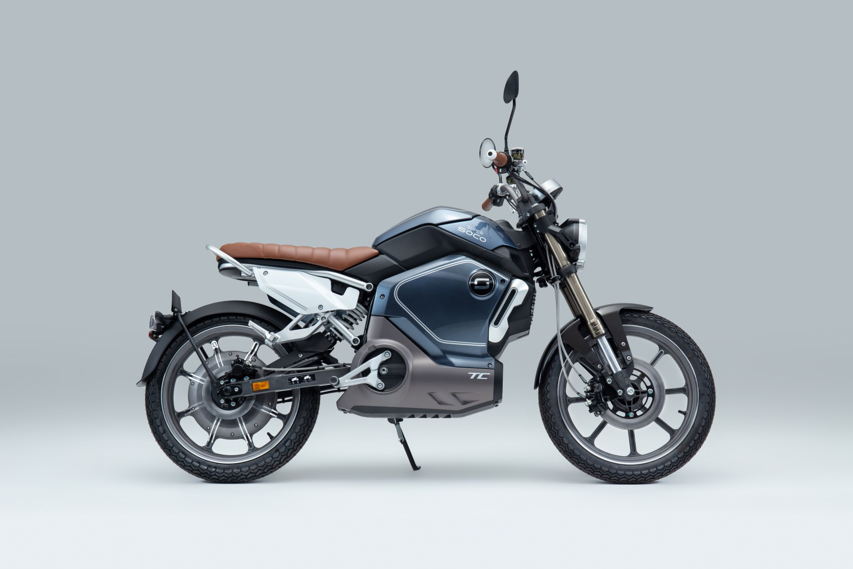 Super Soco TC electric motorcycle side profile image
