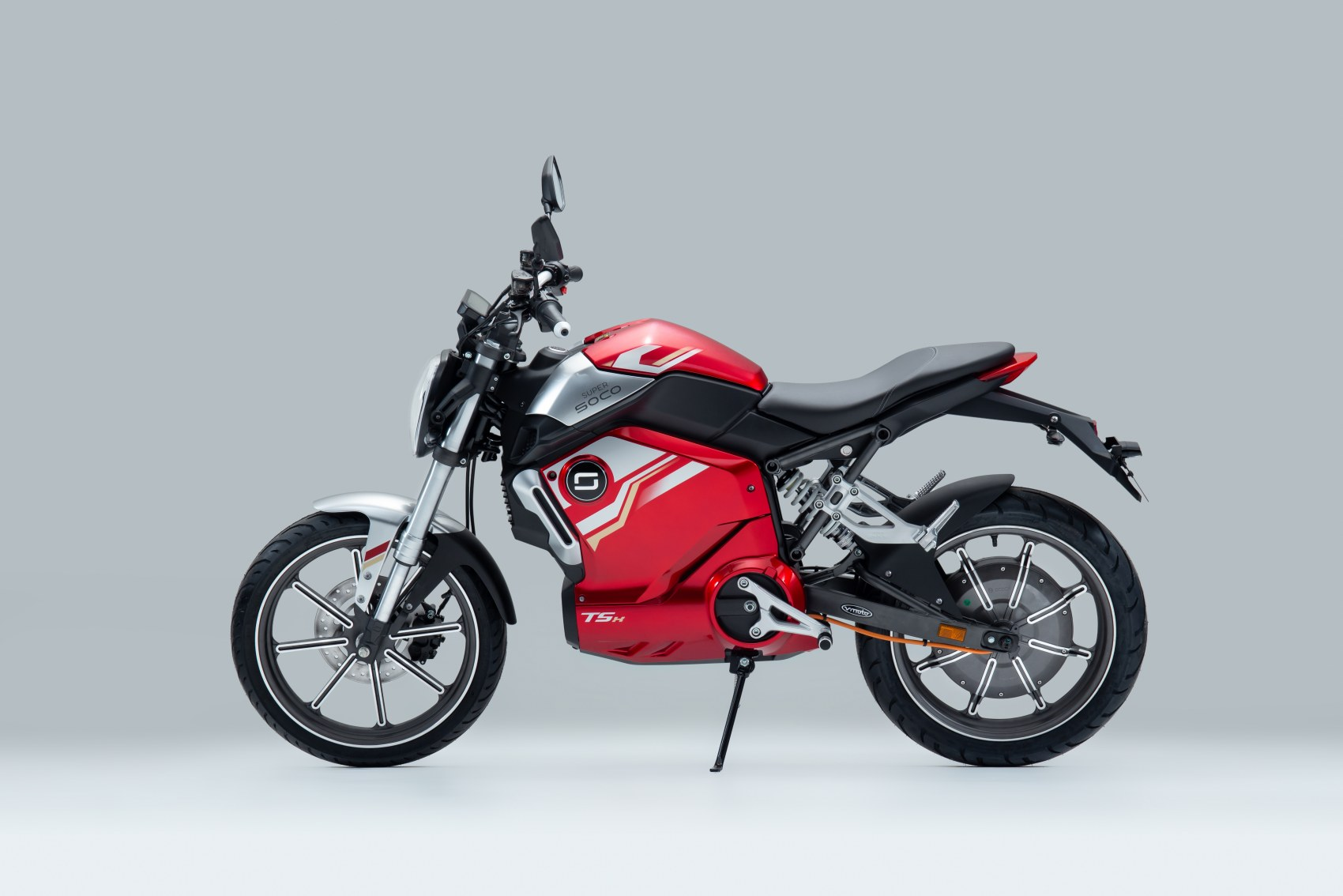 Super Soco TSx electric motorcycle side profile image