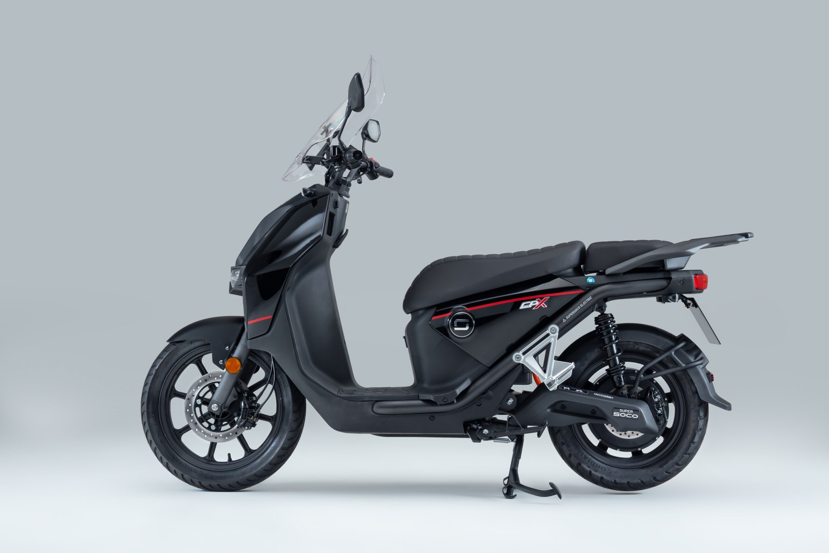 Super Soco CPx electric scooter side profile image