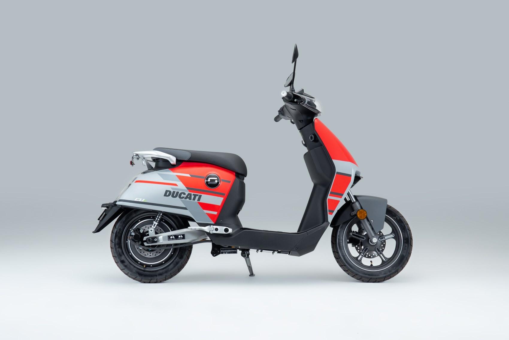 Super Soco CUx electric scooter Ducati Edition side profile image