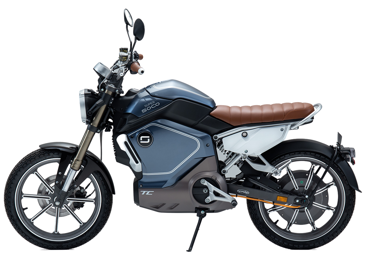 Super Soco TC electric motorcycle - side