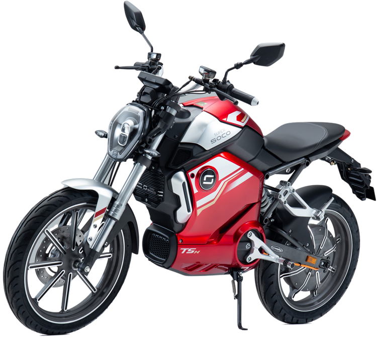 Super Soco TSx electric motorcycle cutout image