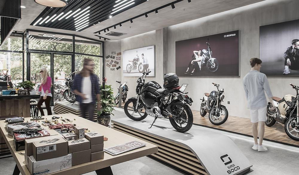 Super Soco electric vehicle showroom
