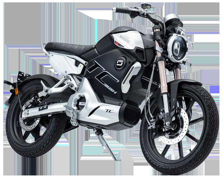 Super Soco TC Max electric motorcycle cutout image
