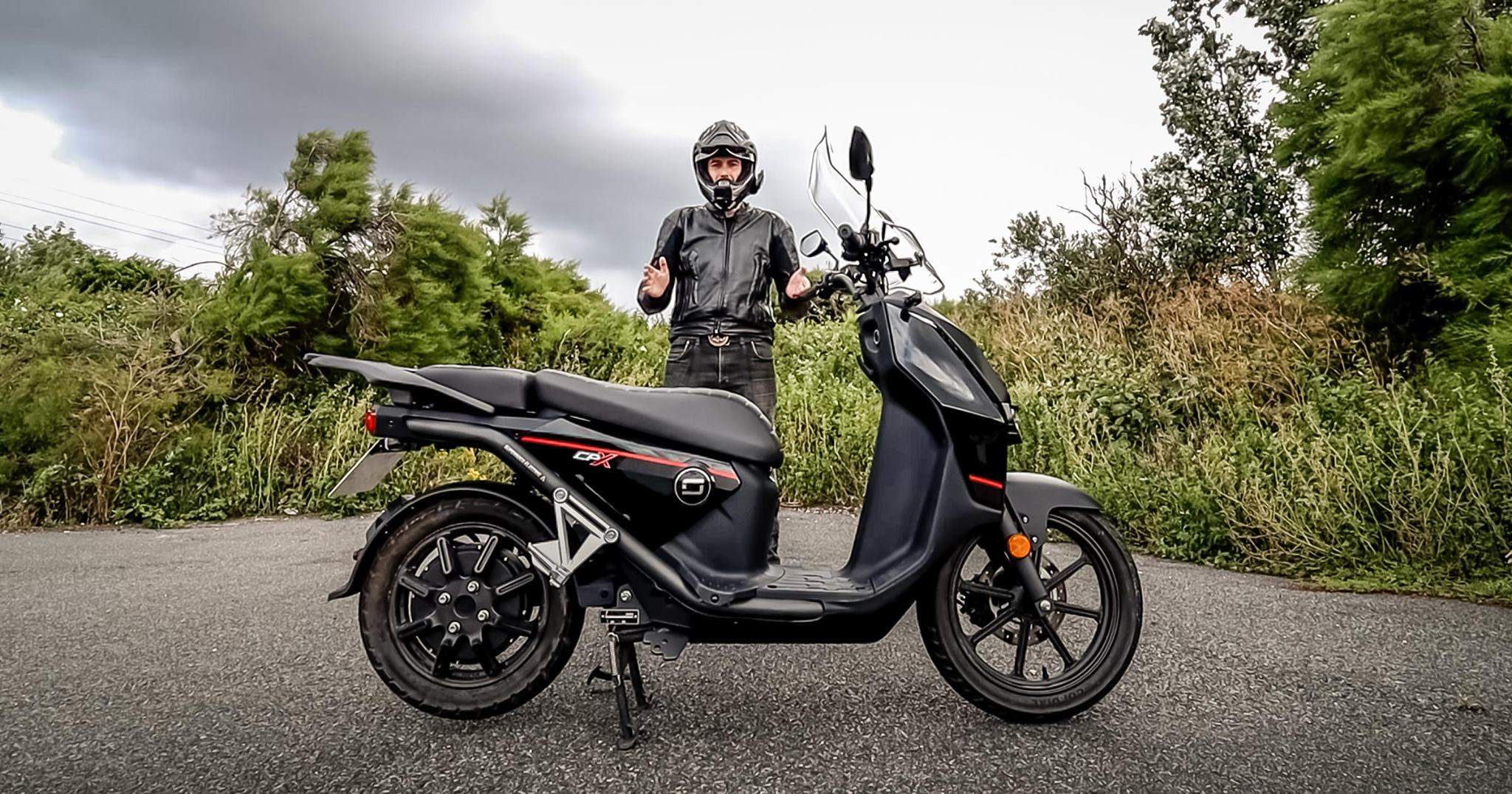Spicy110 reviewing the Super Soco CPx electric scooter