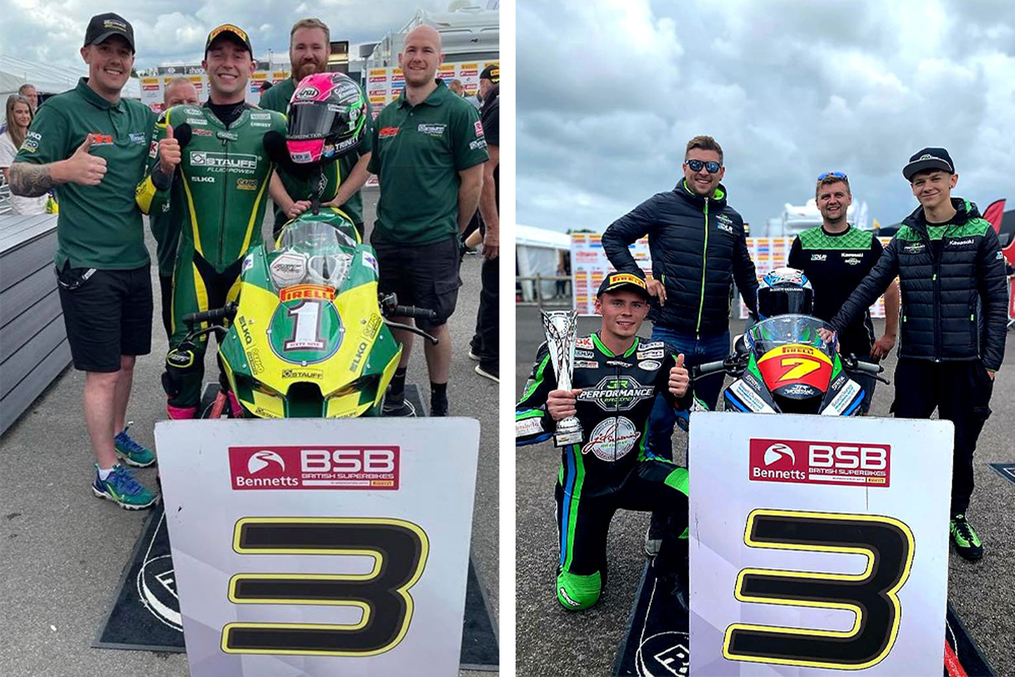 Chrissy Rouse and Liam Delves at Thruxton BSB 2021