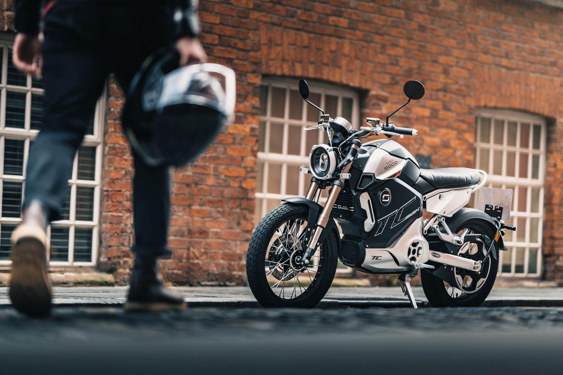 Super Soco TC Max electric motorcycle