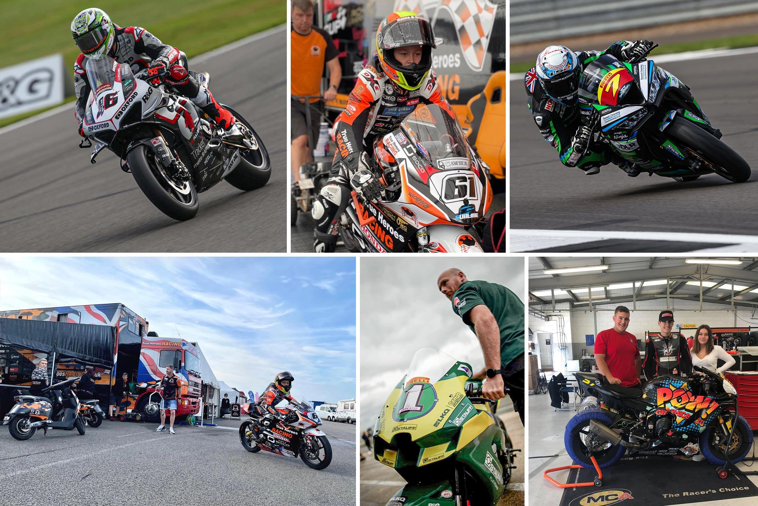 Super Soco riders at Silverstone BSB